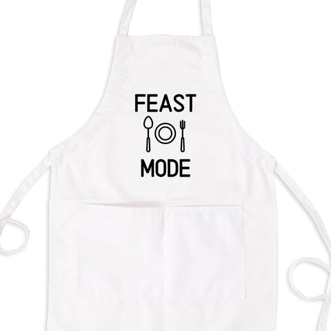 Feast Mode Bib Apron with Pockets
