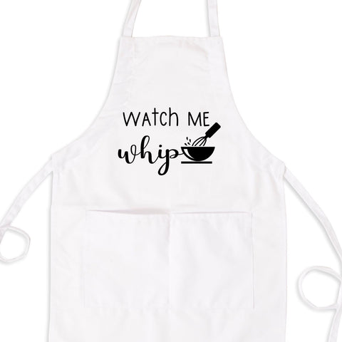 Watch Me Whip Bib Apron with Pockets