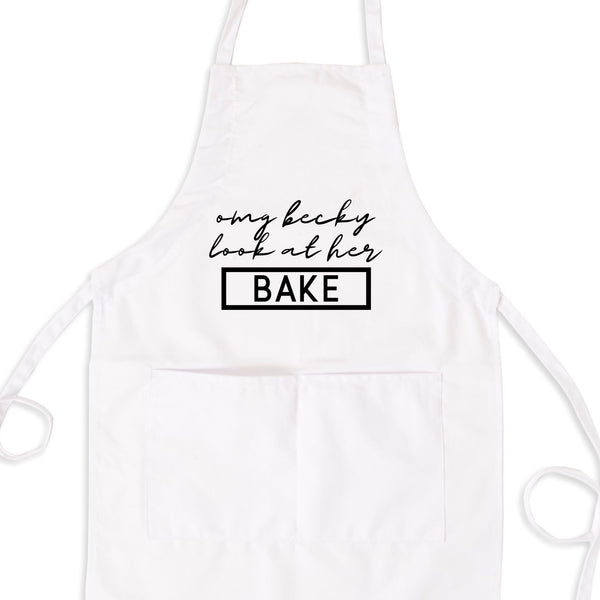 Oh My God Becky Look At Her Bake Bib Apron with Pockets
