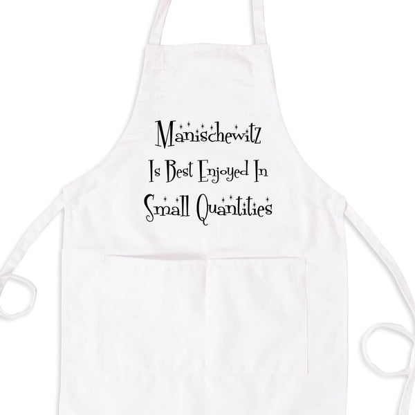 Manischewitz Is Best Enjoyed In Small Quantities Bib Apron with Pockets