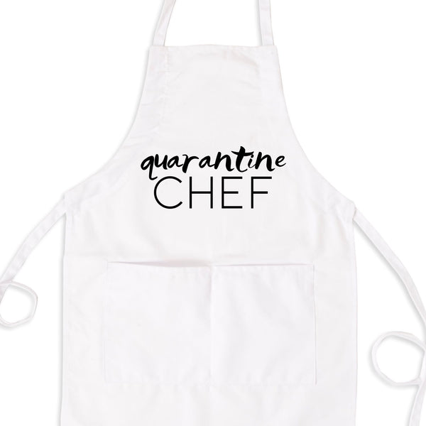 Quarantine Chef, Funny Quarantine Apron With Pockets