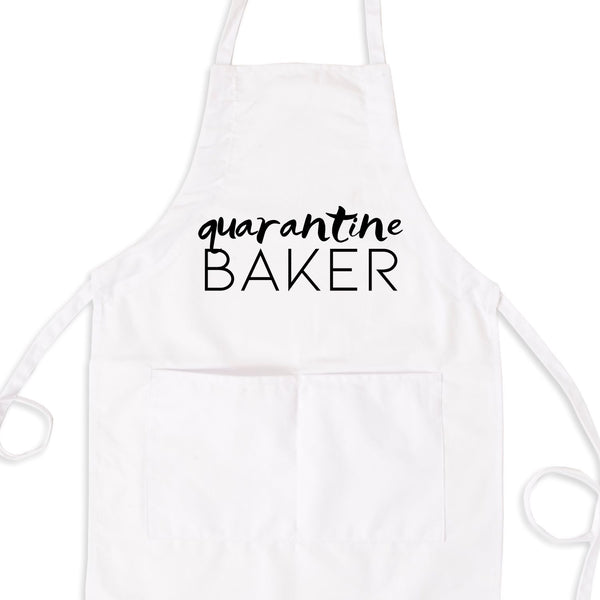 Quarantine Baker, Funny Quarantine Apron With Pockets