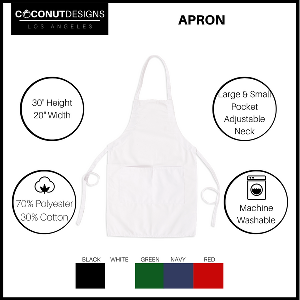 Holiday Baking Team Bib Apron with Pockets