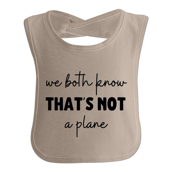 We Both Know That'S Not A Plane, Funny Baby Bib