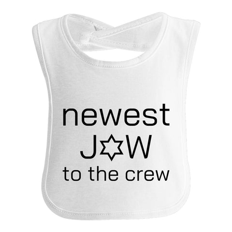 Newest Jew To The Crew, Jewish Baby Bib