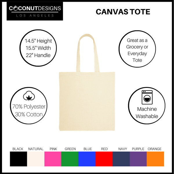 Brow Slayer Canvas Tote