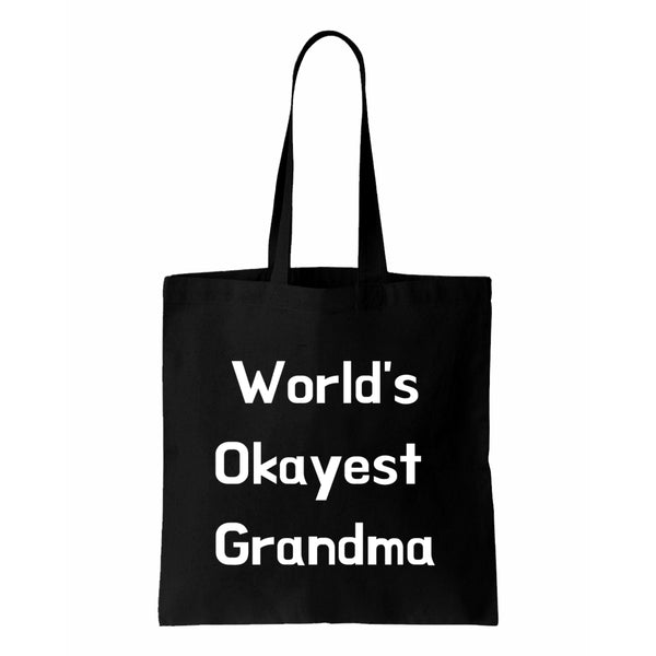Worlds Okayest Grandma Canvas Tote