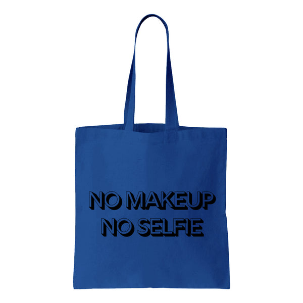 No Makeup Selfie Canvas Tote