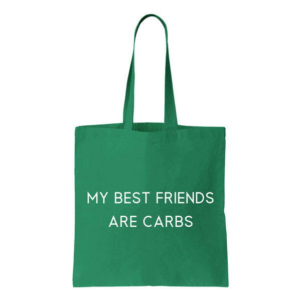 My Best Friends Are Carbs Canvas Tote