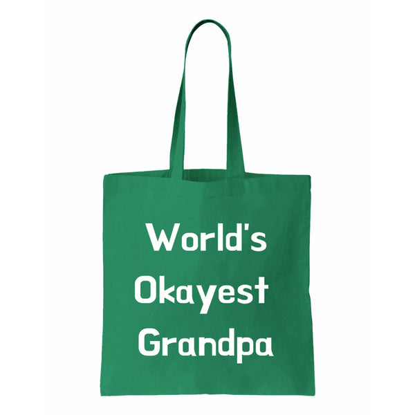 Worlds Okayest Grandpa Canvas Tote