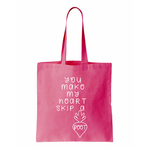You Make My Heart Skip A Beet Canvas Tote
