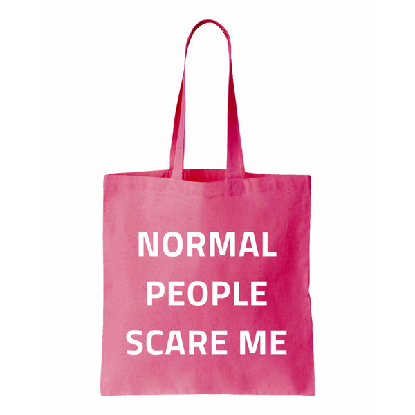 Normal People Scare Me Canvas Tote
