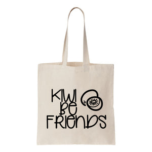 Kiwi Be Friends Canvas Tote