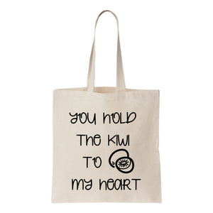 You Hold The Kiwi To My Heart Canvas Tote