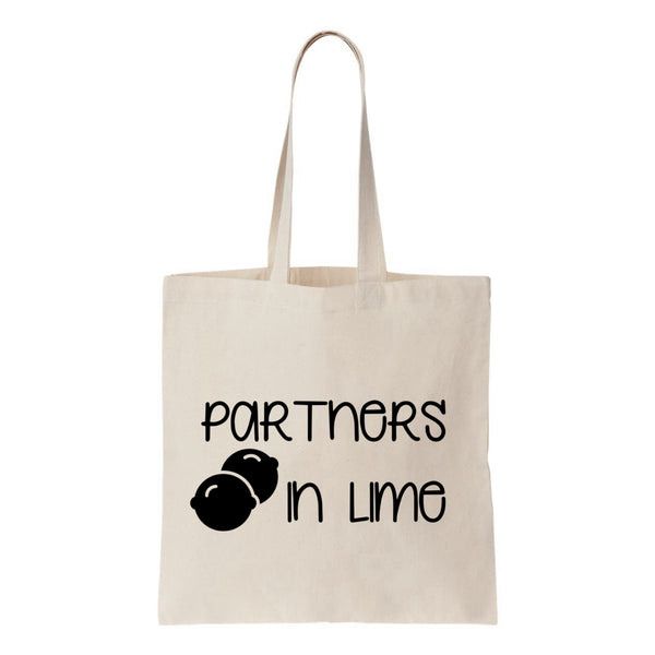 Partners In Lime Canvas Tote