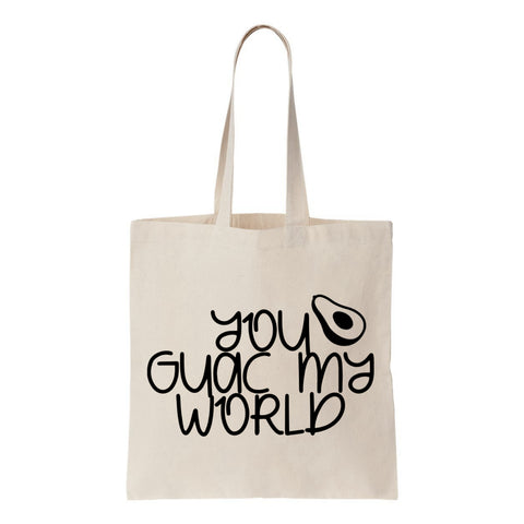 You Guac My World  Canvas Tote