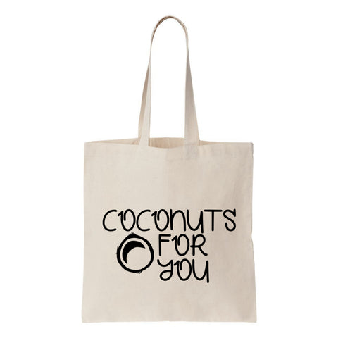 Coconuts For You Canvas Tote