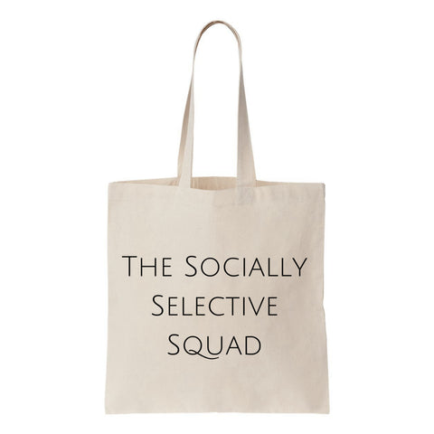 The Socially Selective Squad Canvas Tote