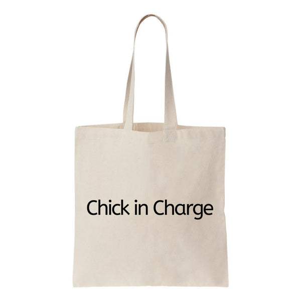 Chick In Charge Canvas Tote