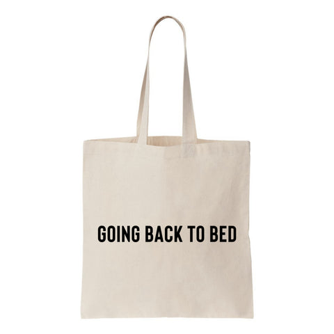 Going Back To Bed Canvas Tote