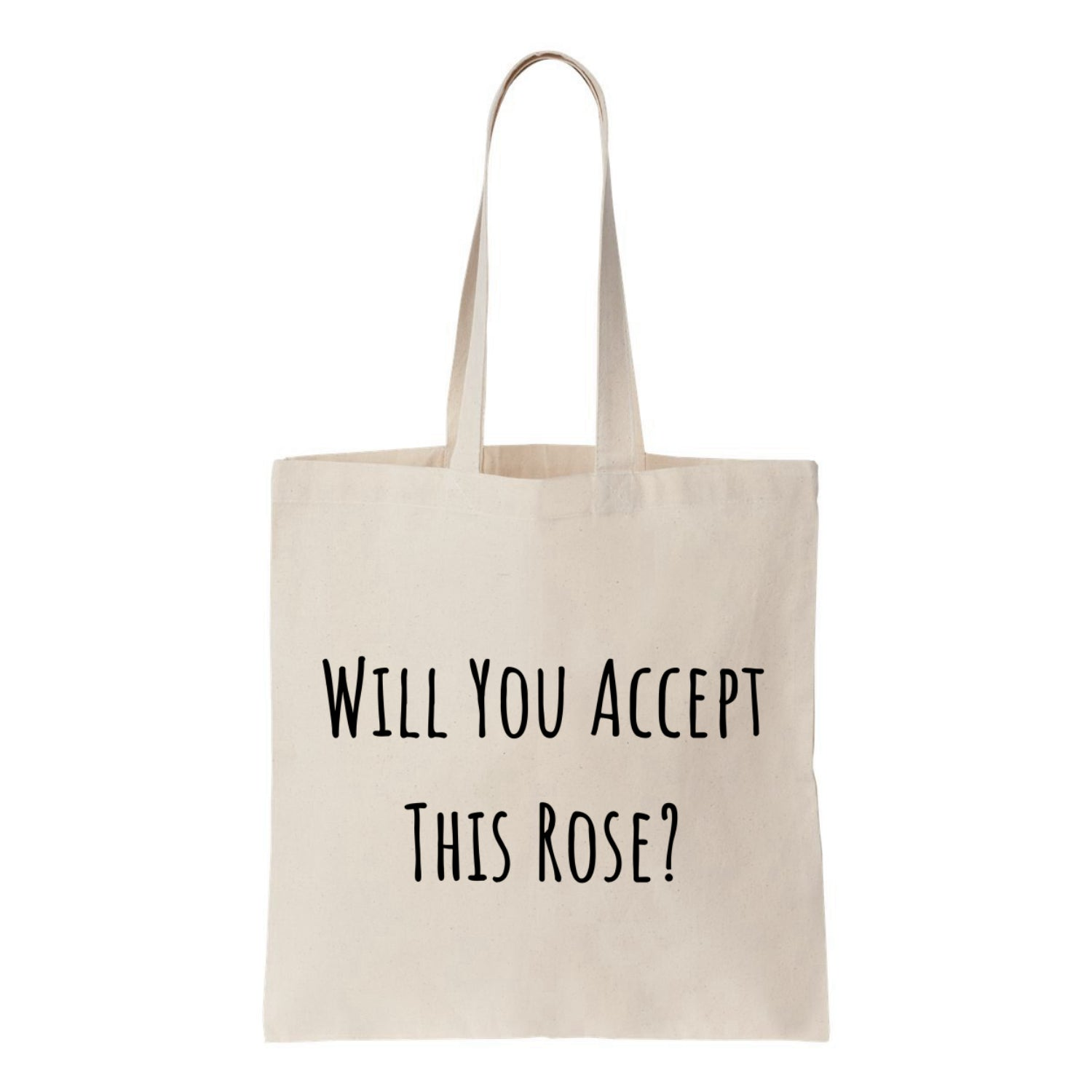 Will You Accept This Rose Canvas Tote