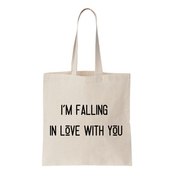 I'm Falling In Love With You Canvas Tote