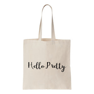 Hello Pretty Canvas Tote