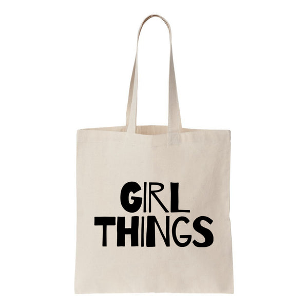 Girl Things Canvas Tote