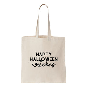 Happy Halloween Witches Canvas Tote