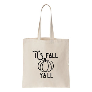 It's Fall Ya'll Canvas Tote