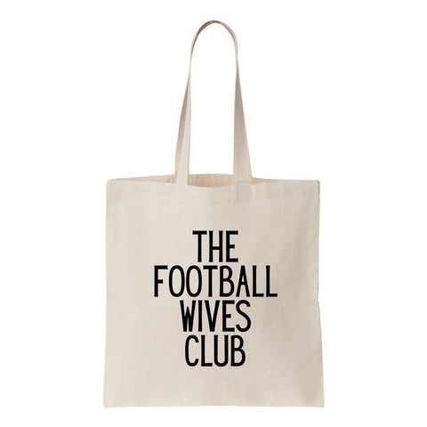 The Football Wives Club Canvas Tote