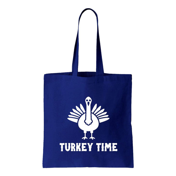 Turkey Time Canvas Tote