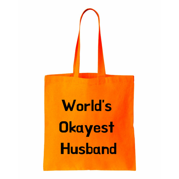 Worlds Okayest Husband Canvas Tote