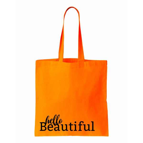 Hello Beautiful Canvas Tote