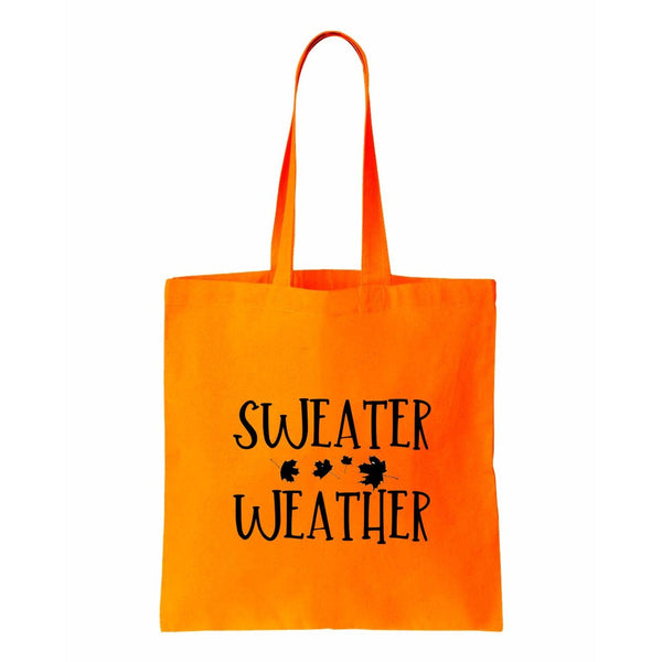 Sweater Weather Canvas Tote