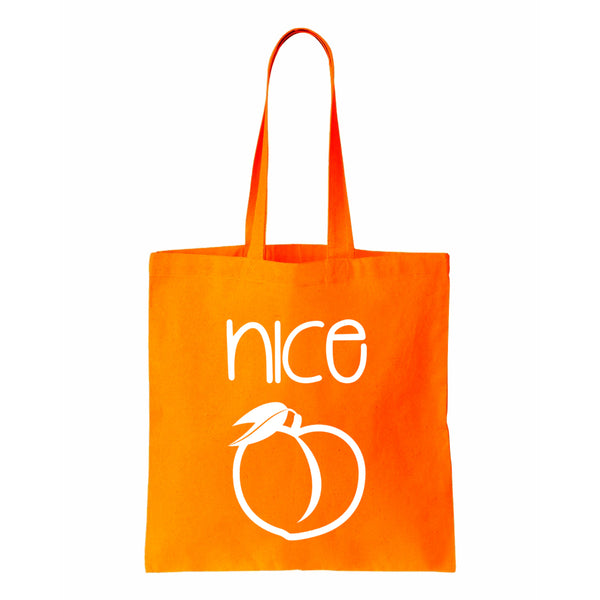 Nice (Peach) Canvas Tote