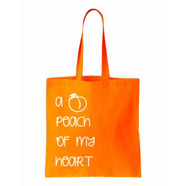 A Peach Of My Heart Canvas Tote