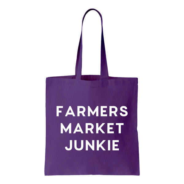 Farmers Market Junkie Canvas Tote