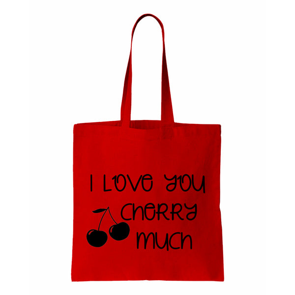 I Love You Cherry Much Canvas Tote