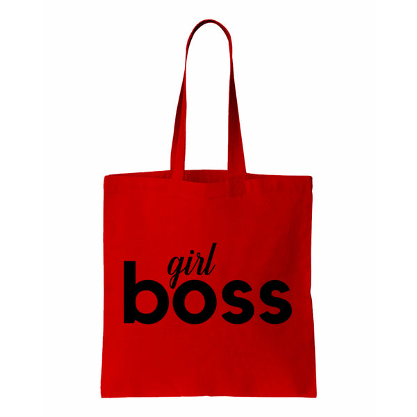 Girl Boss Canvas Canvas Tote