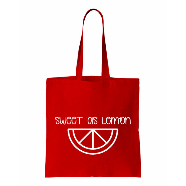 Sweet As Lemon  Canvas Tote