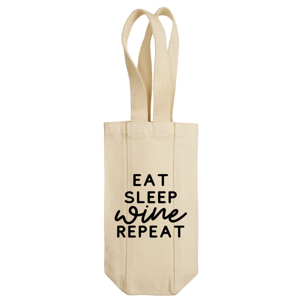 Eat Sleep Wine Repeat Wine Tote with Handles
