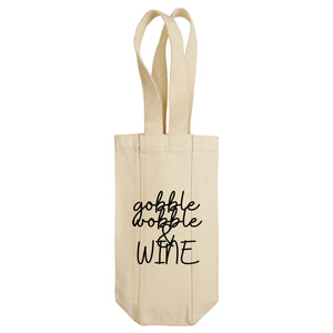 Gobble Wobble & Wine Wine Tote with Handles