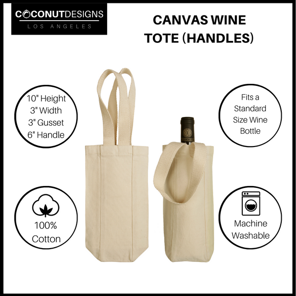 Teacher Supplies Wine Tote with Handles