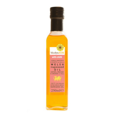Blodyn Aur Welsh Rapeseed Oil with Chilli 6x250ml