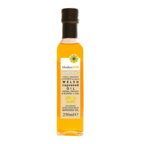 Blodyn Aur Welsh Rapeseed Oil with Garlic 6x250ml