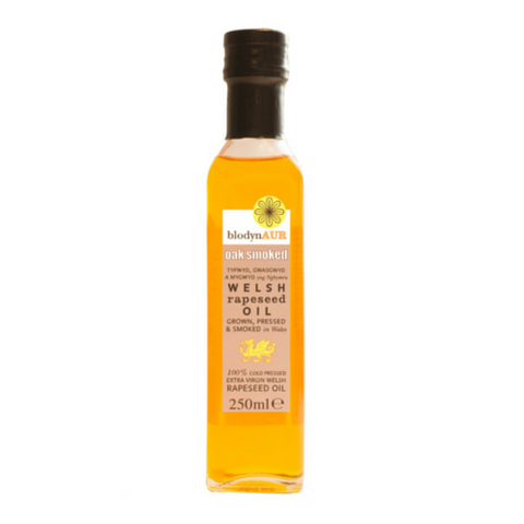 Blodyn Aur Oak Smoked Welsh Rapeseed Oil  6x250ml