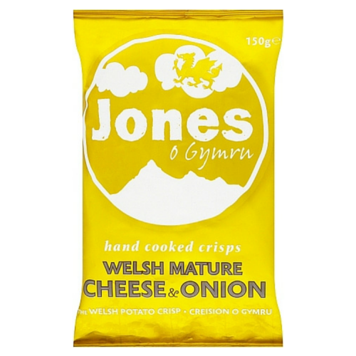 Jones o Gymru Welsh Mature Cheese & Onion 12x150g