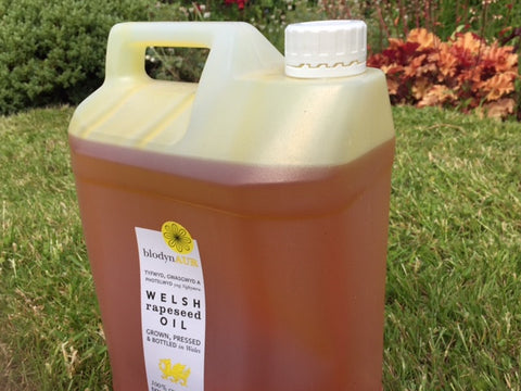 Blodyn Aur Welsh Rapeseed Oil 5L - Includes our RE-FILL service