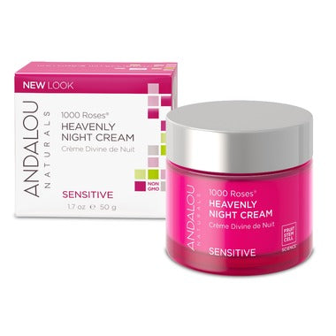 Andalou 1000 Roses™ Heavenly Night Cream  50ml For Delicate & Dry Skin